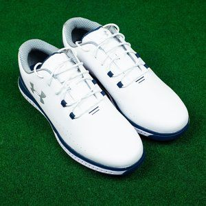 NWOB Under Armour RST White/Navy Golf Cleat